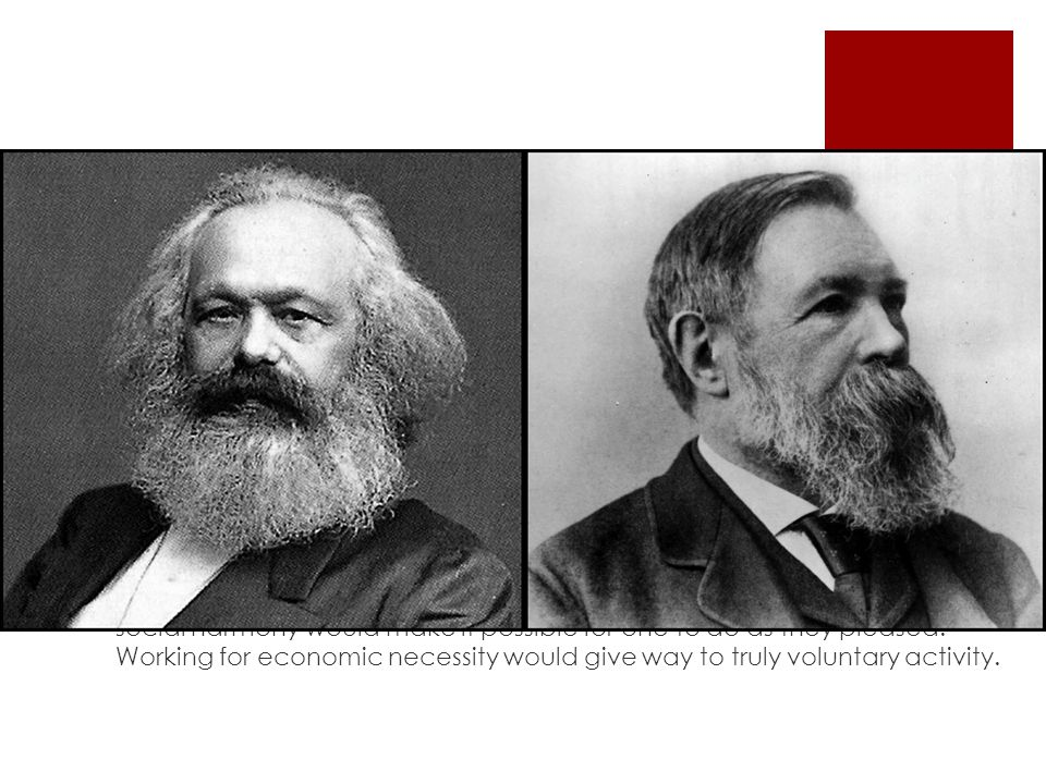 Socialism vs Communism.  Originally socialism and communism were used interchangeably.