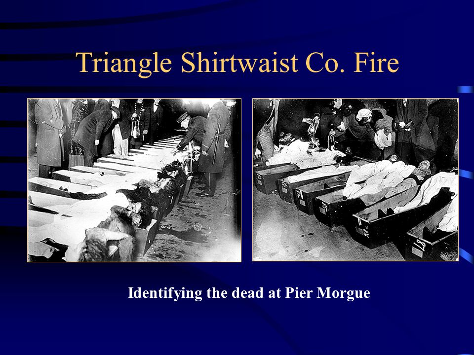 Triangle Shirtwaist Co. Fire Identifying the dead at Pier Morgue