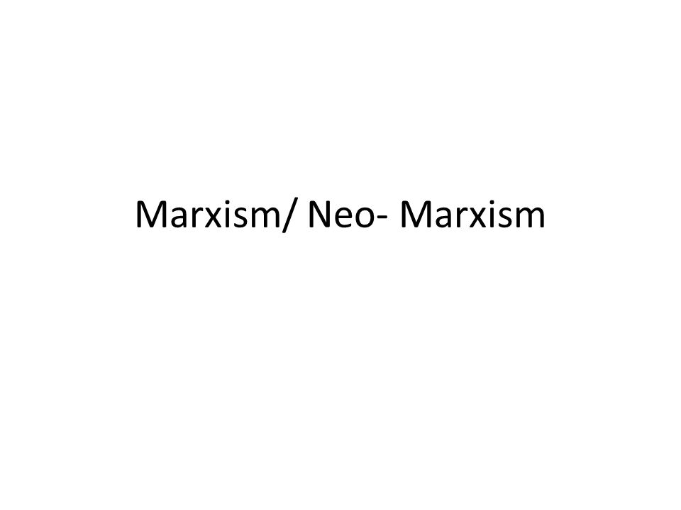 What is Marxism.