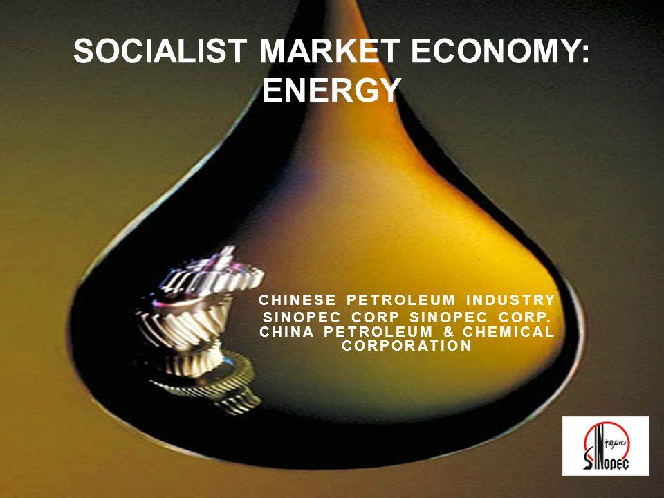 CHINESE PETROLEUM INDUSTRY SINOPEC CORP SINOPEC CORP. CHINA PETROLEUM & CHEMICAL CORPORATION SOCIALIST MARKET ECONOMY: ENERGY