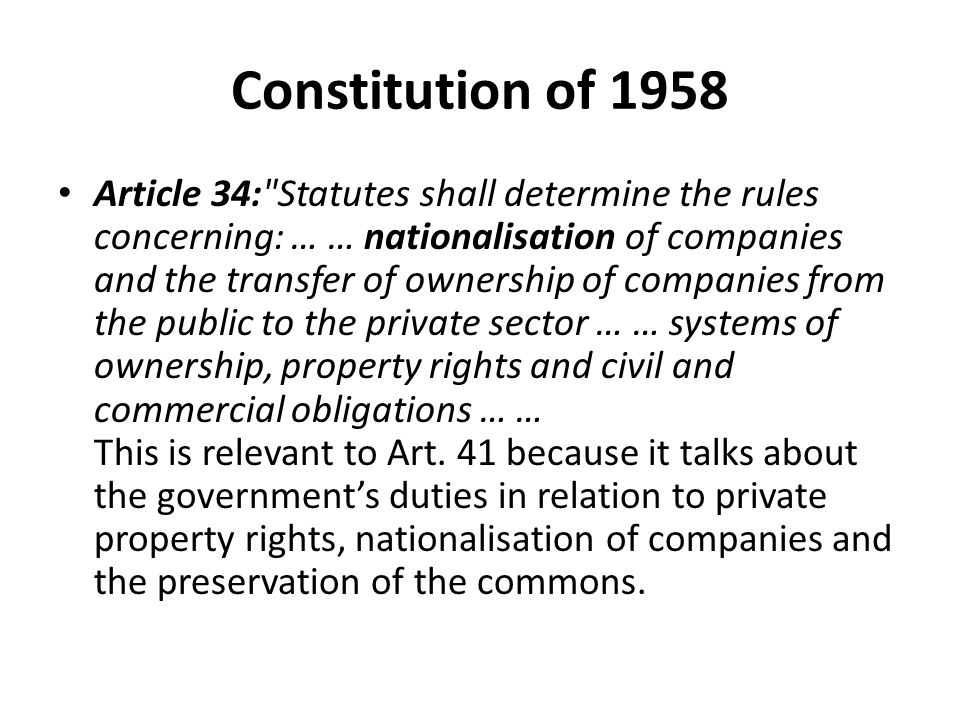 Constitution of 1958 Article 34: