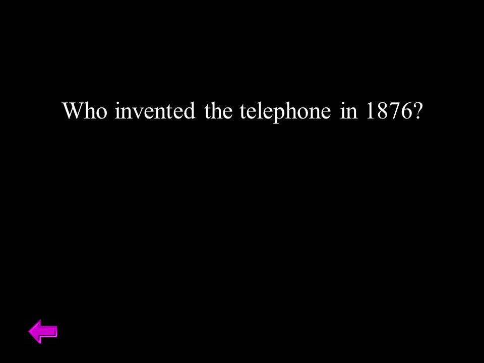 Who invented the telephone in 1876