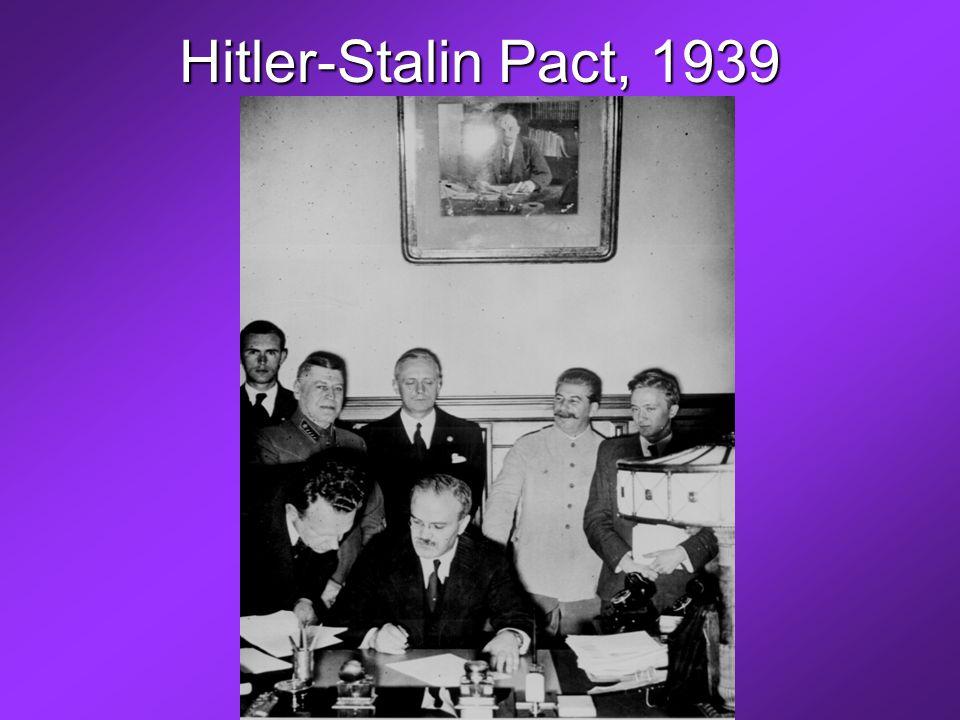 Hitler-Stalin Pact, 1939
