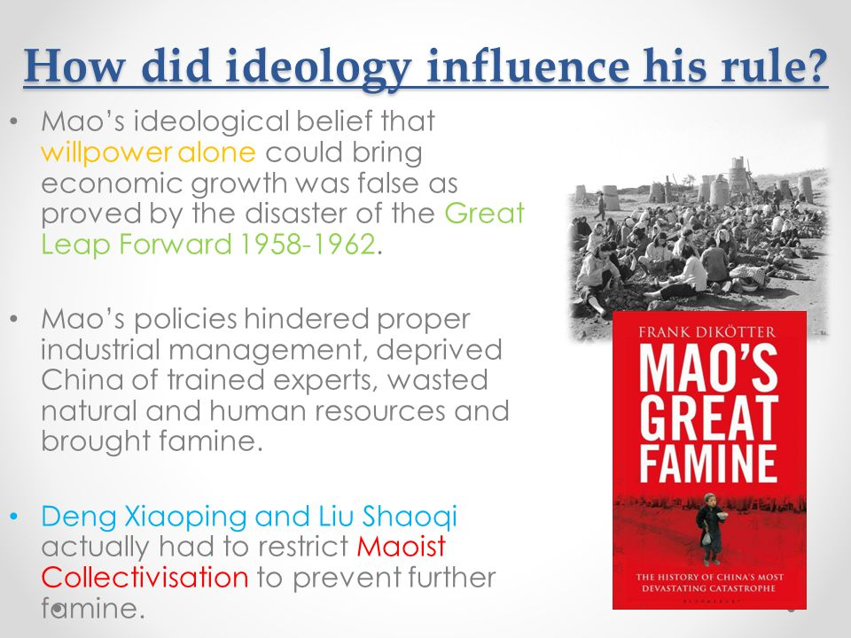 How did ideology influence his rule.