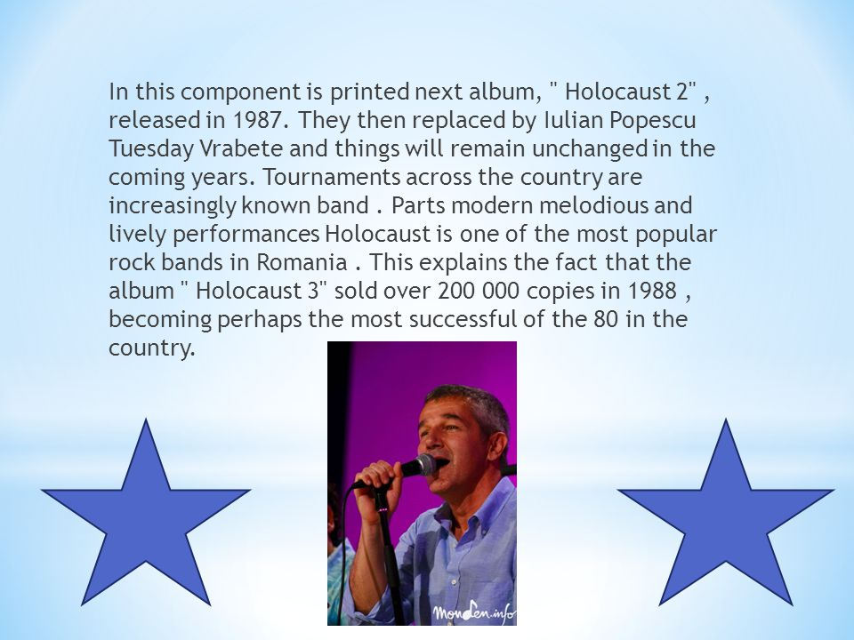 In this component is printed next album, Holocaust 2 , released in 1987.