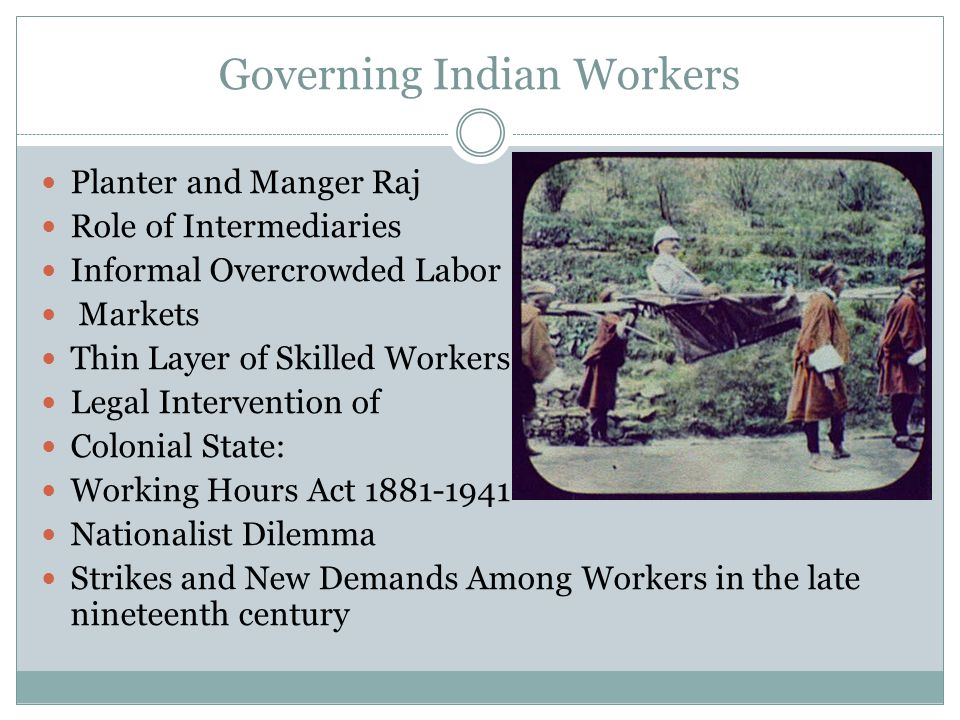 Labor in Inter War Years First World War and Expansion of Indian Industries Economic Crisis General Strikes Formation of All India Trade Union Congress (1920) Workers and Peasant Party and the Rise of Communist Party of India Formation of the Congress Socialist Party in 1934 Gandhian Alertnatives