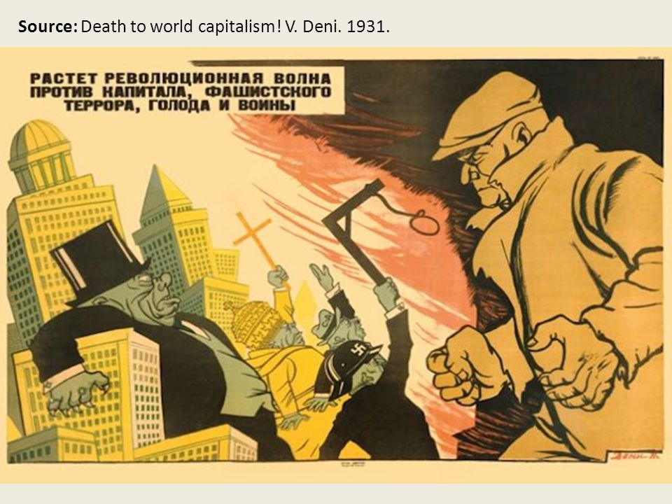 Source: Death to world capitalism! V. Deni. 1931.