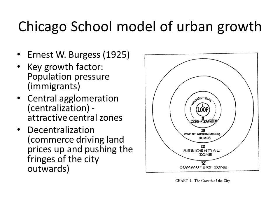 Chicago School model of urban growth Ernest W.