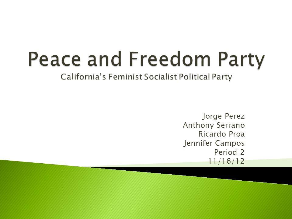 Jorge Perez Anthony Serrano Ricardo Proa Jennifer Campos Period 2 11/16/12