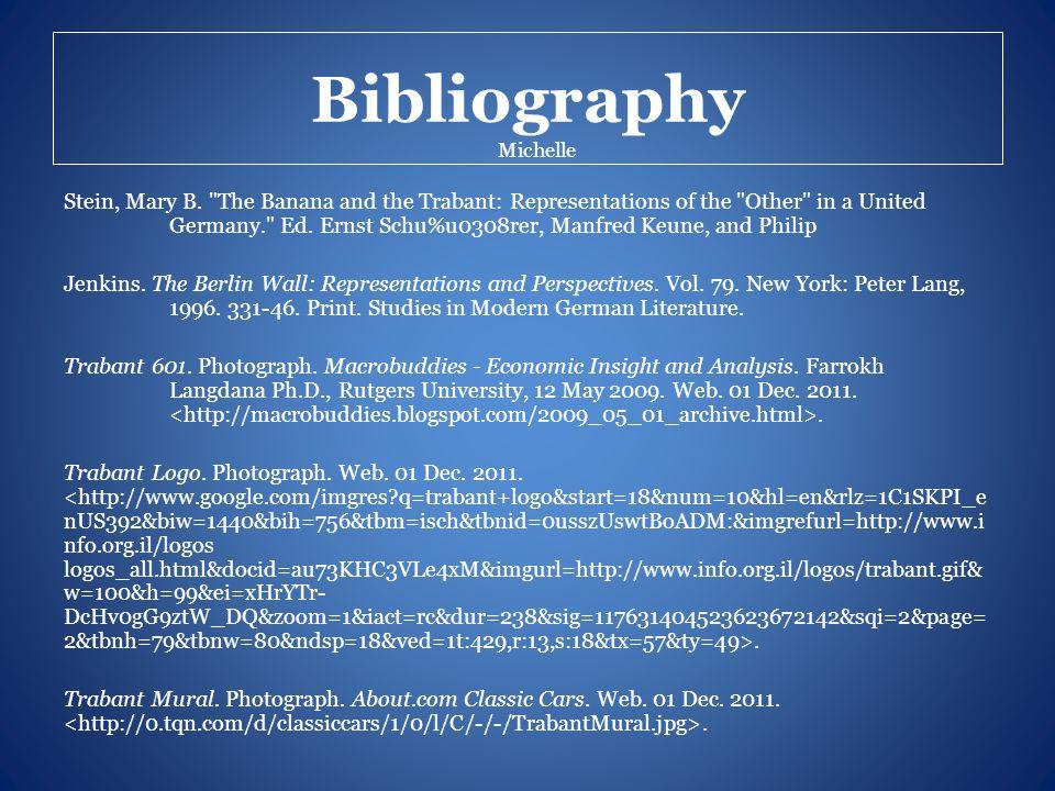 Bibliography Stein, Mary B.