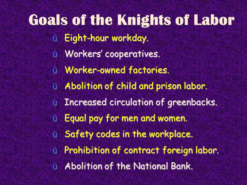 Knights of Labor Knights of Labor trade card For skilled labor only