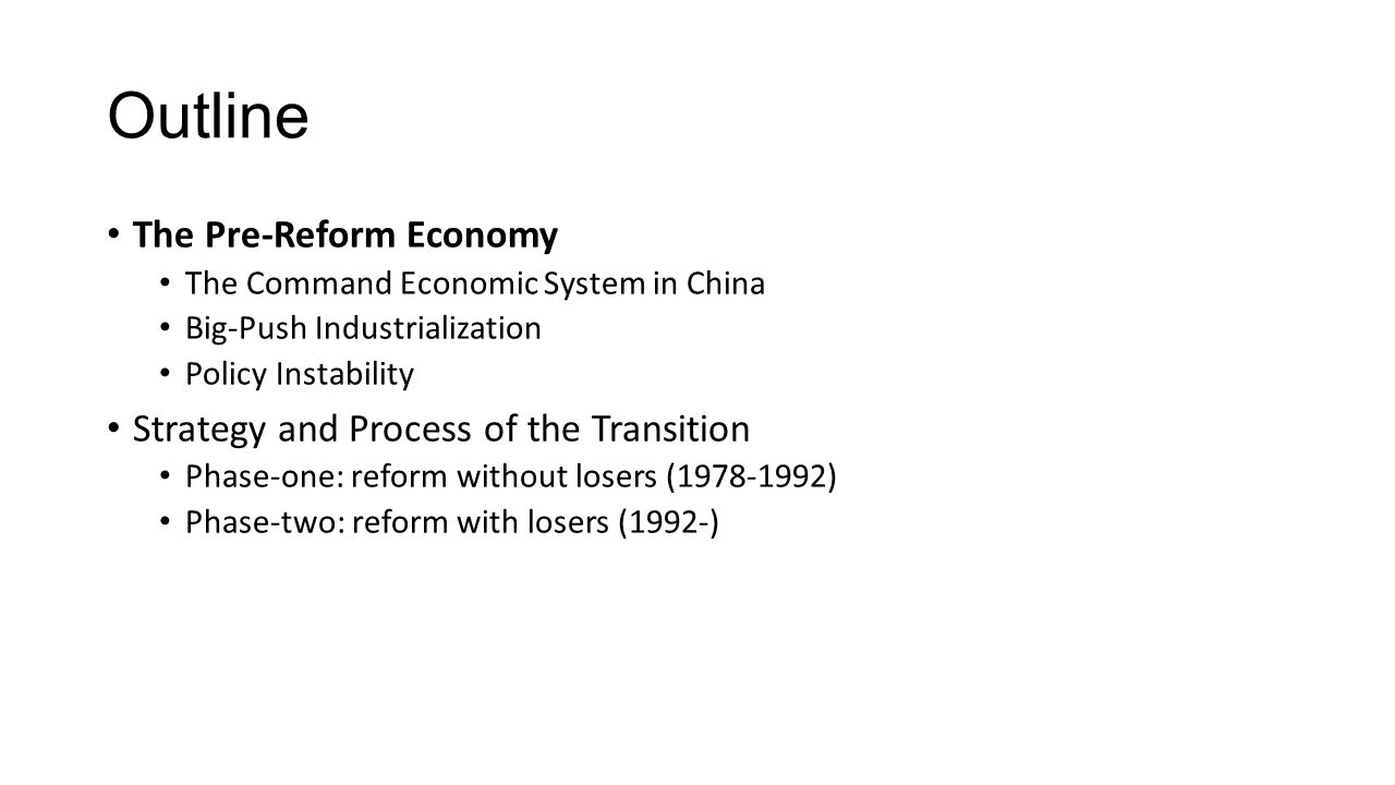 Summary of Reform and Development Reform, which was often initiated under pressure from below , took places concurrently with economic development.