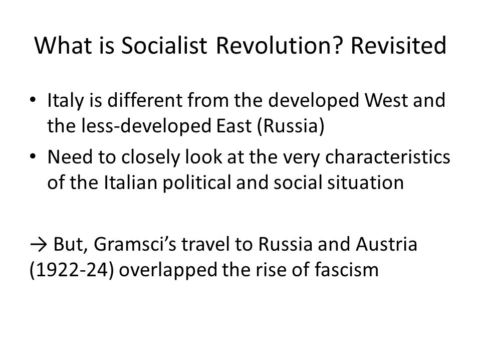 What is Socialist Revolution.