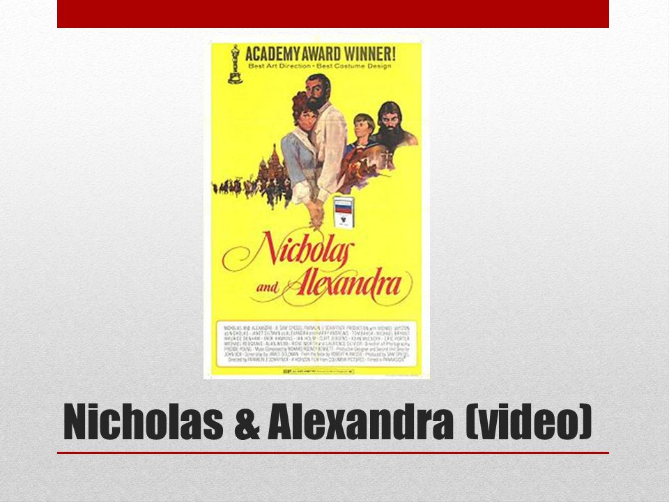 Nicholas & Alexandra (video)