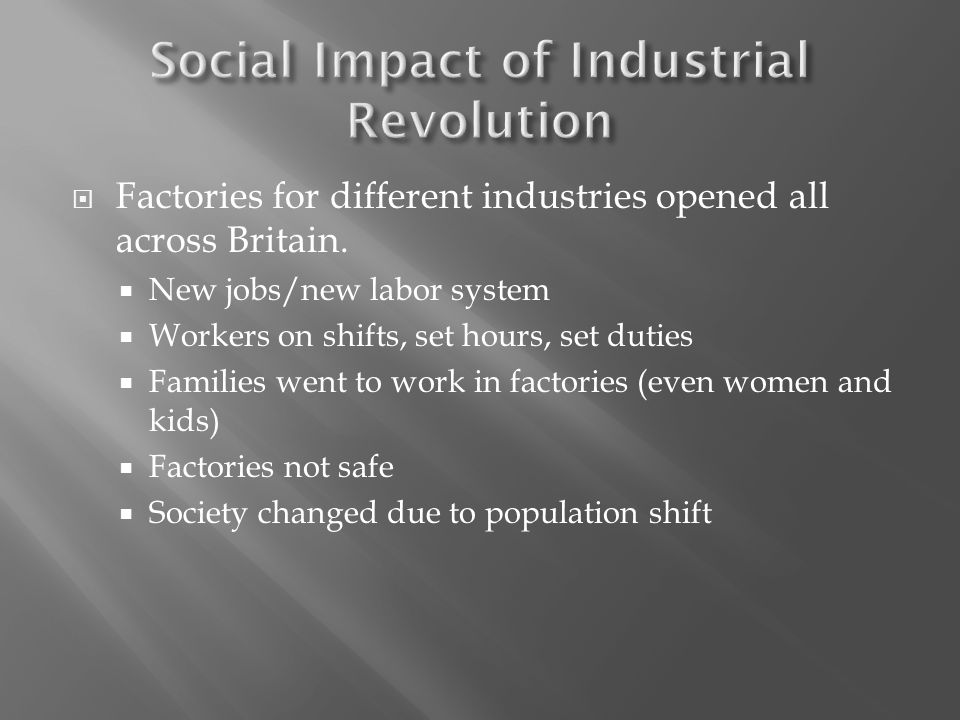  Factories for different industries opened all across Britain.