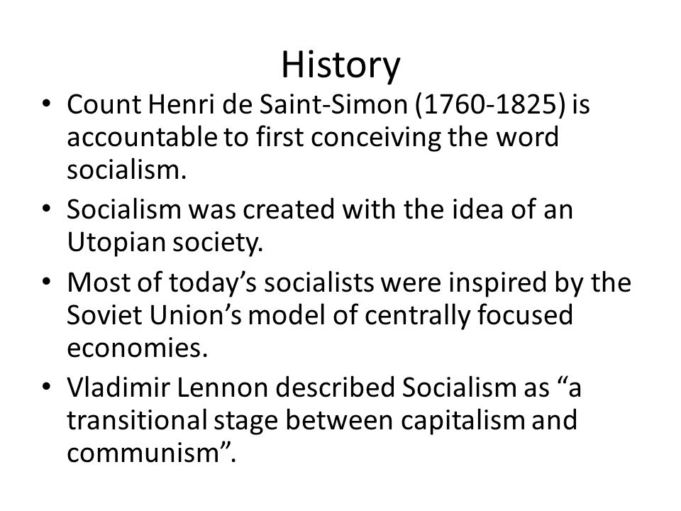 History (cont.) The basic ideas began in the 19 th century with the problems of industrialization.