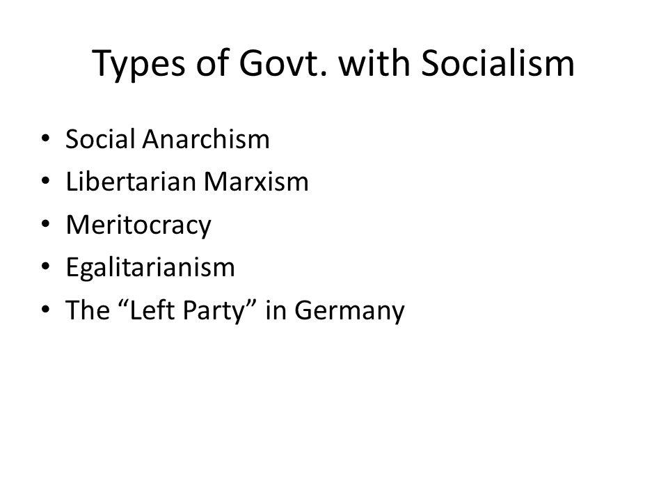 Types of Govt.