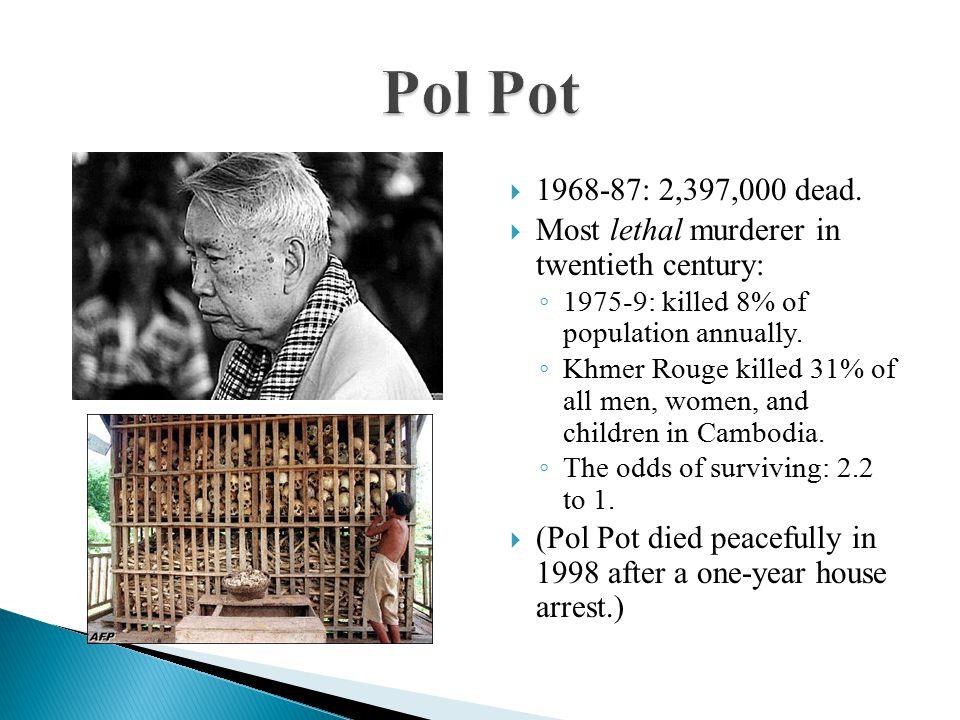 1968-87: 2,397,000 dead.
