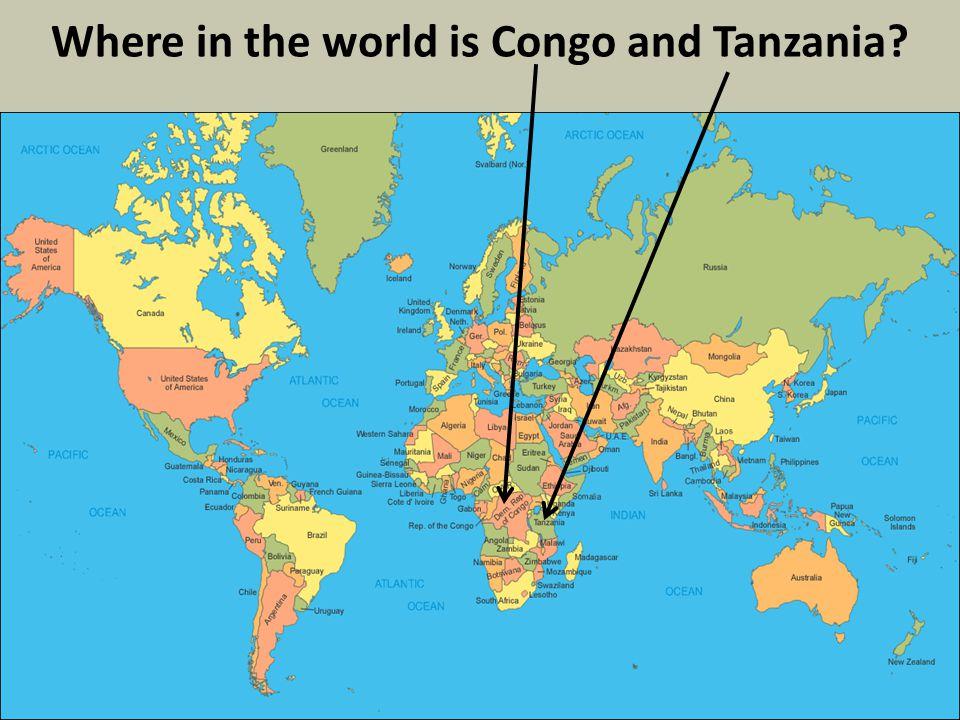 Where are Congo and Tanzania located in Africa? 4 Tanzania Congo