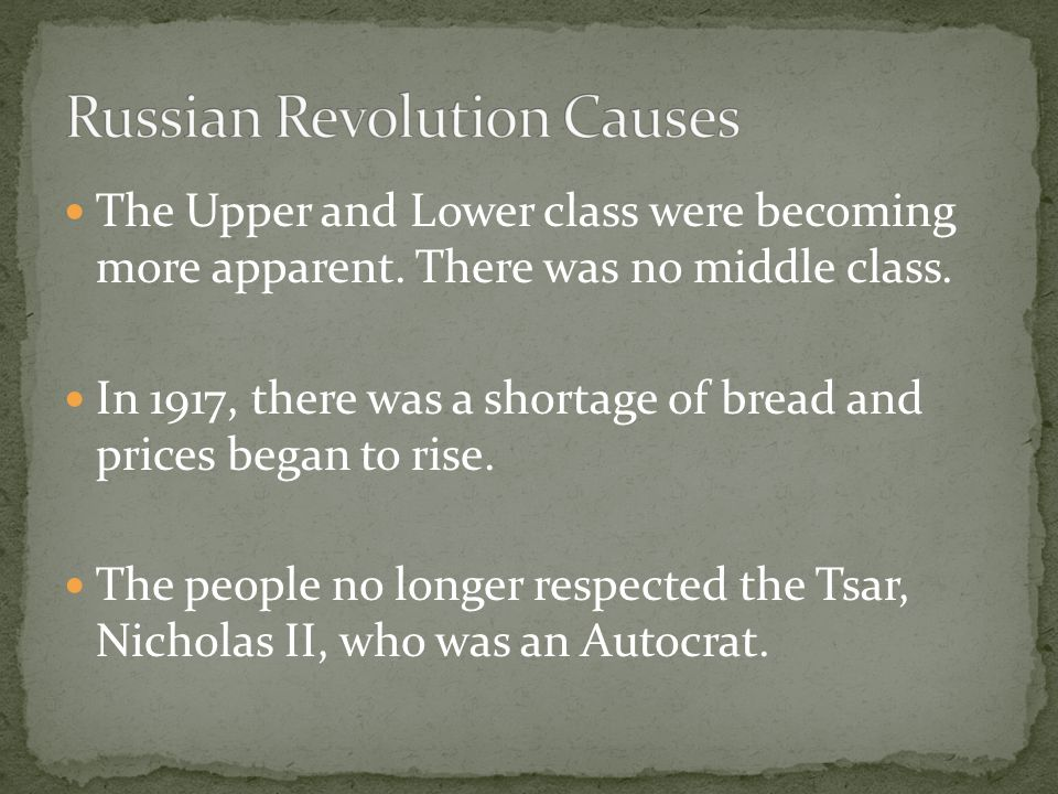 The Upper and Lower class were becoming more apparent.