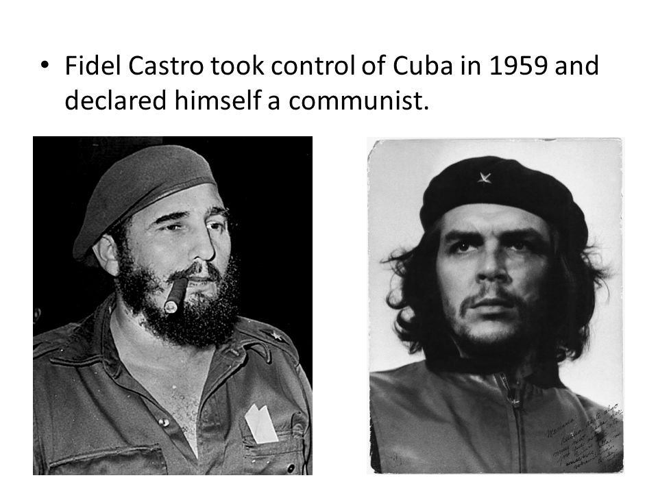 The United States aided Cuban dissidents in a failed attempt to overthrow Castro in 1961.
