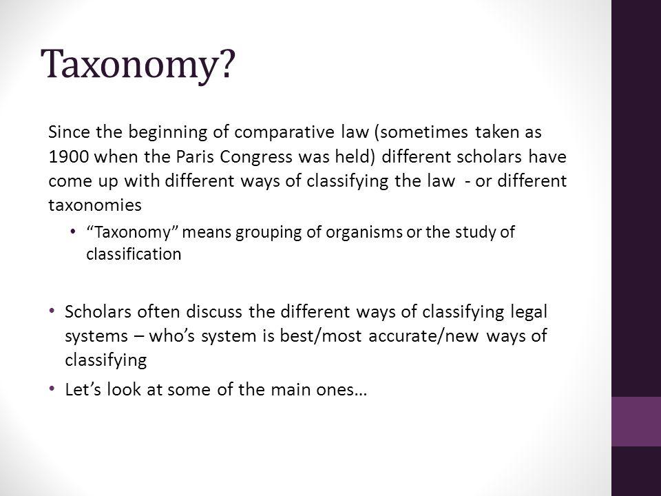 Taxonomy.