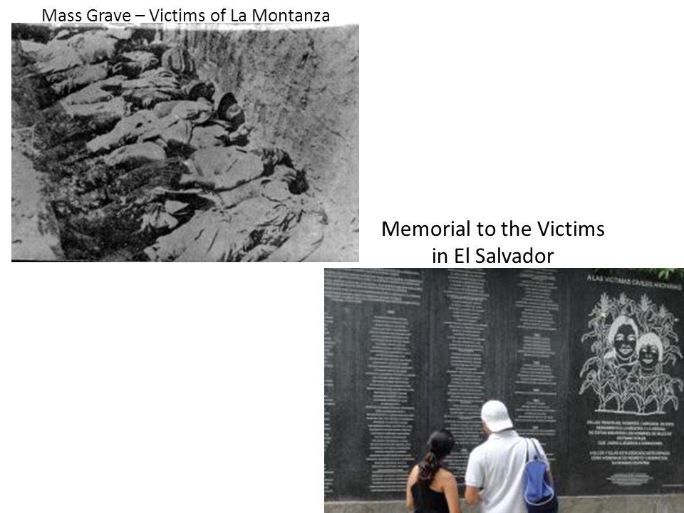 Mass Grave – Victims of La Montanza Memorial to the Victims in El Salvador