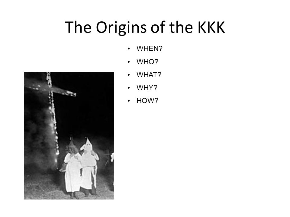 Early 20 th Century Segregation between blacks and whites existed in the southern states Blacks had the worst jobs and houses Jim Crow Laws 1915 – KKK re-founded
