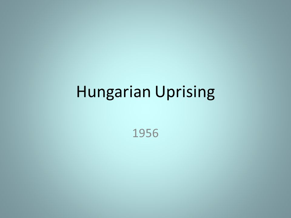 What caused the Uprising?