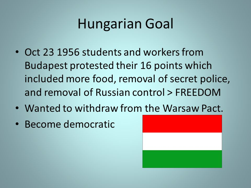 2.Calls upon the Union of Soviet Socialist Republics and Hungary to co-operate in every way with the Committee, and in particular, to permit the Committee and its staff to enter the territory of Hungary and to travel freely therein; The actions of the UN lead to a forced peace treaty signing between Soviet union and Hungary however it was unsuccessful.