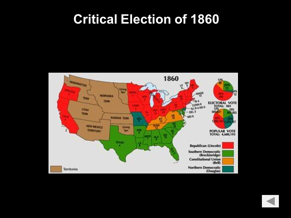 Critical Elections: 1800: Thomas Jefferson's Democratic-Republicans dominated for 28 years (Federalists faded from the scene).