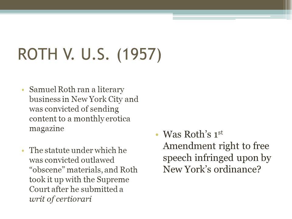 ROTH V. U.S.