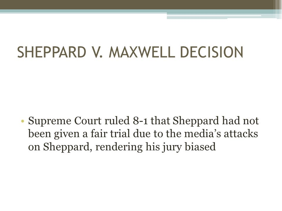 SHEPPARD V.