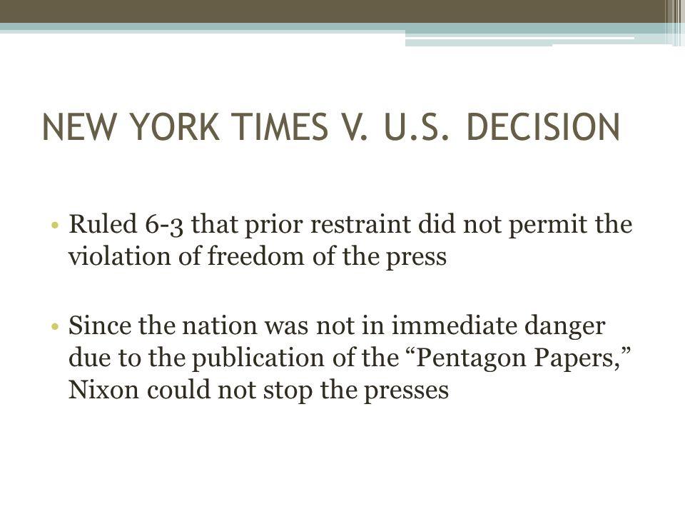 NEW YORK TIMES V. U.S.