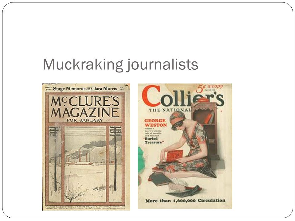 Muckraking journalists