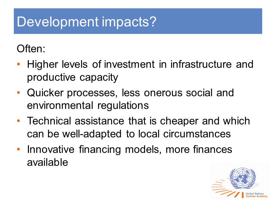 Development impacts.