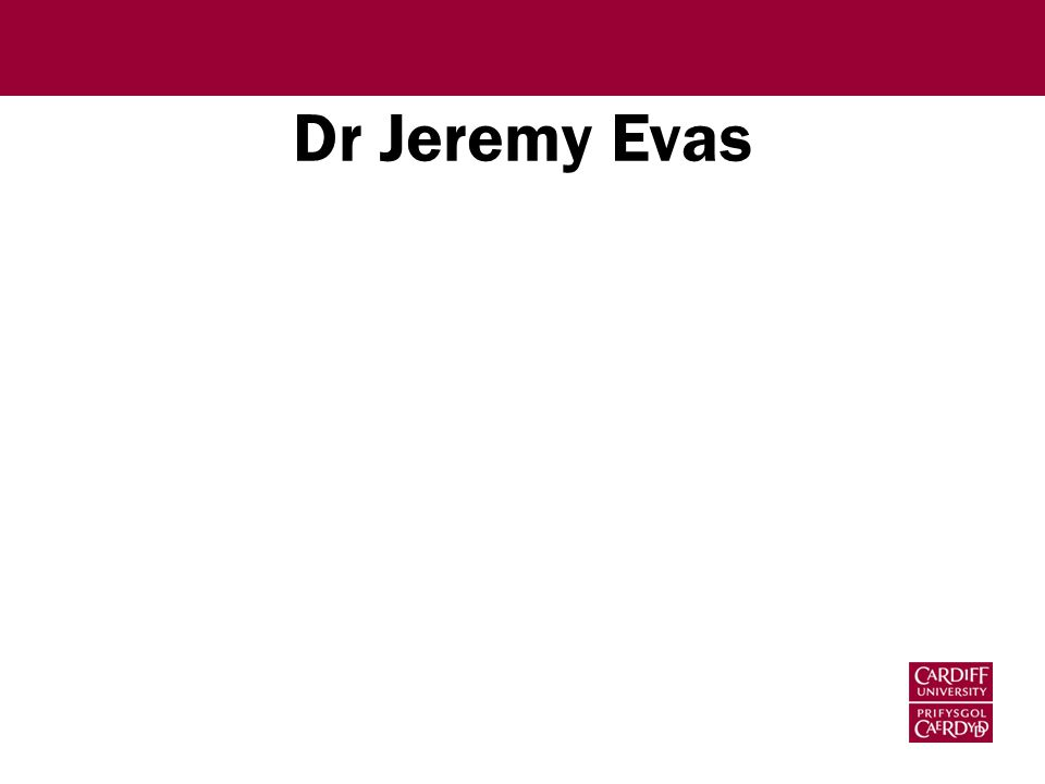 Dr Jeremy Evas