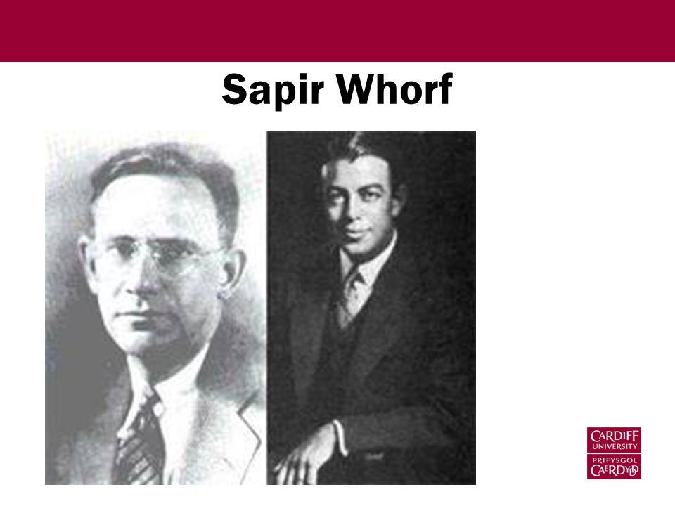 Sapir Whorf