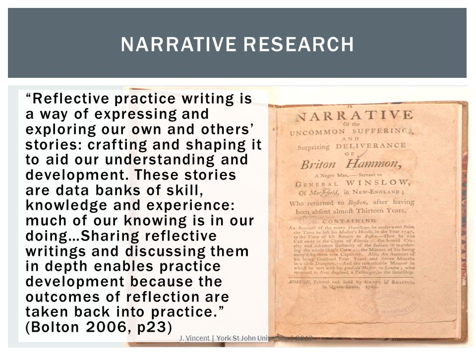 Reflective practice writing is a way of expressing and exploring our own and others' stories: crafting and shaping it to aid our understanding and development.