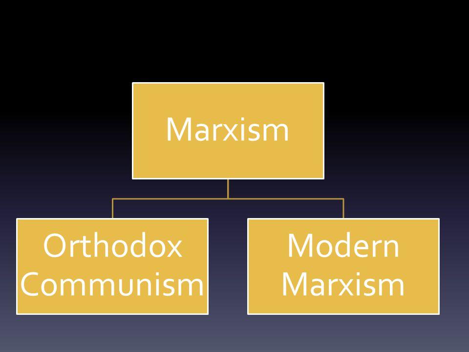 Marxism Orthodox Communism Modern Marxism