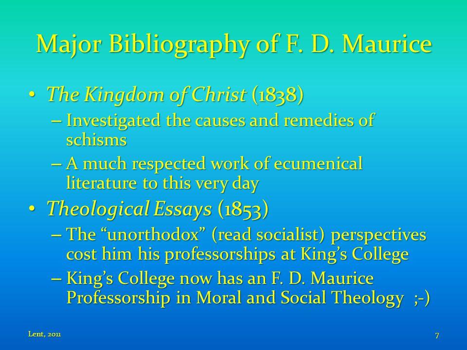 Major Bibliography of F. D.