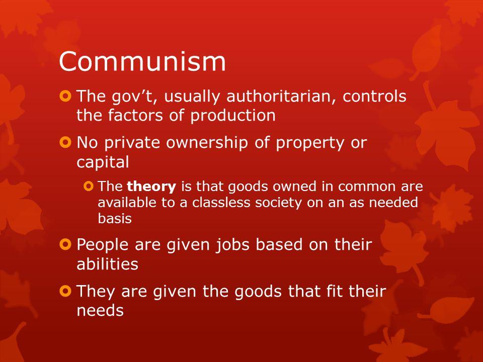 Political & Economic Philosophies Capitalism 1.Marketplace competition 2.