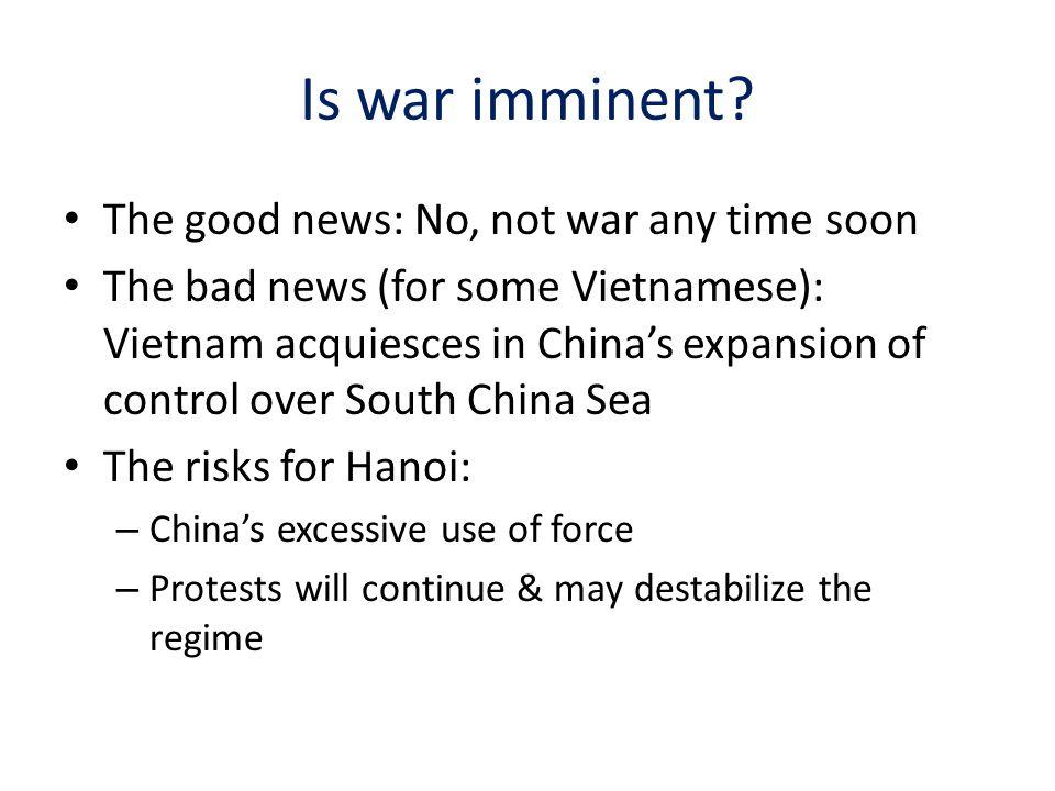 Is war imminent.
