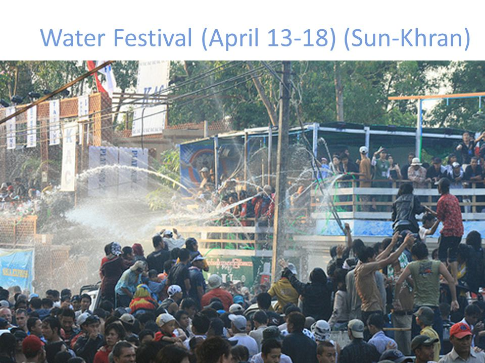 Water Festival (April 13-18) (Sun-Khran)