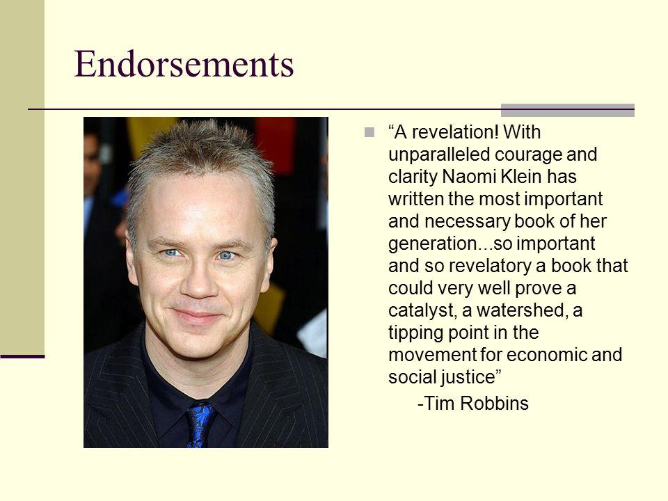 Endorsements A revelation.