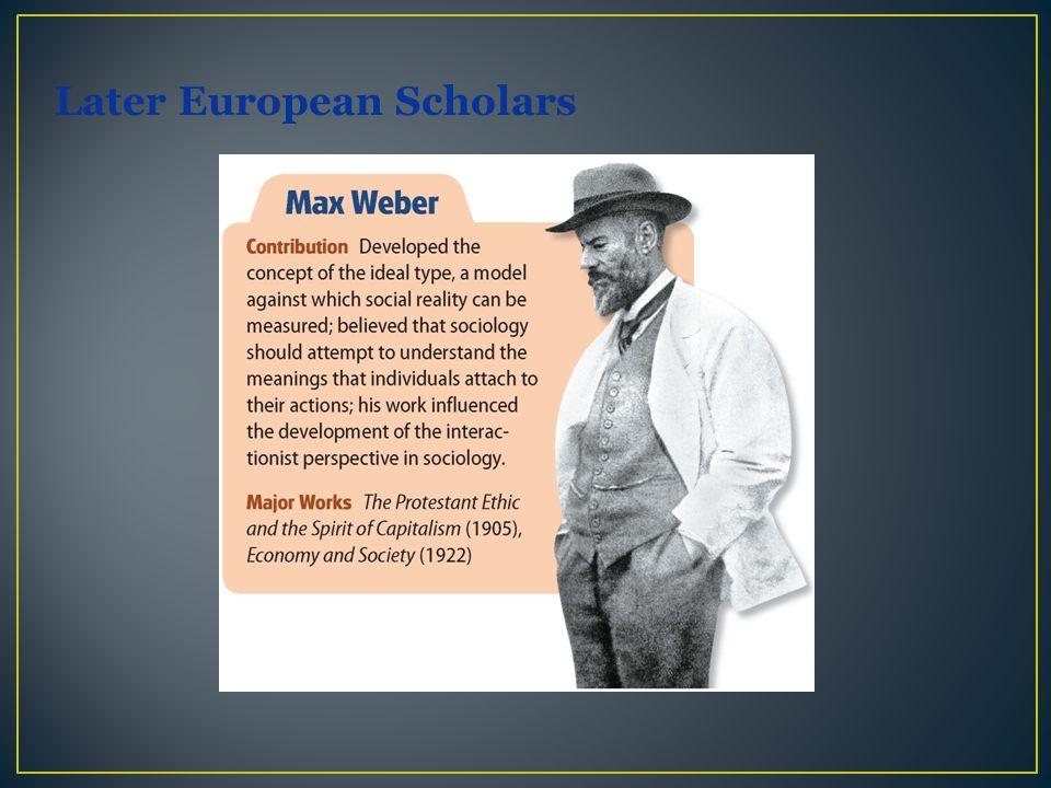 Later European Scholars