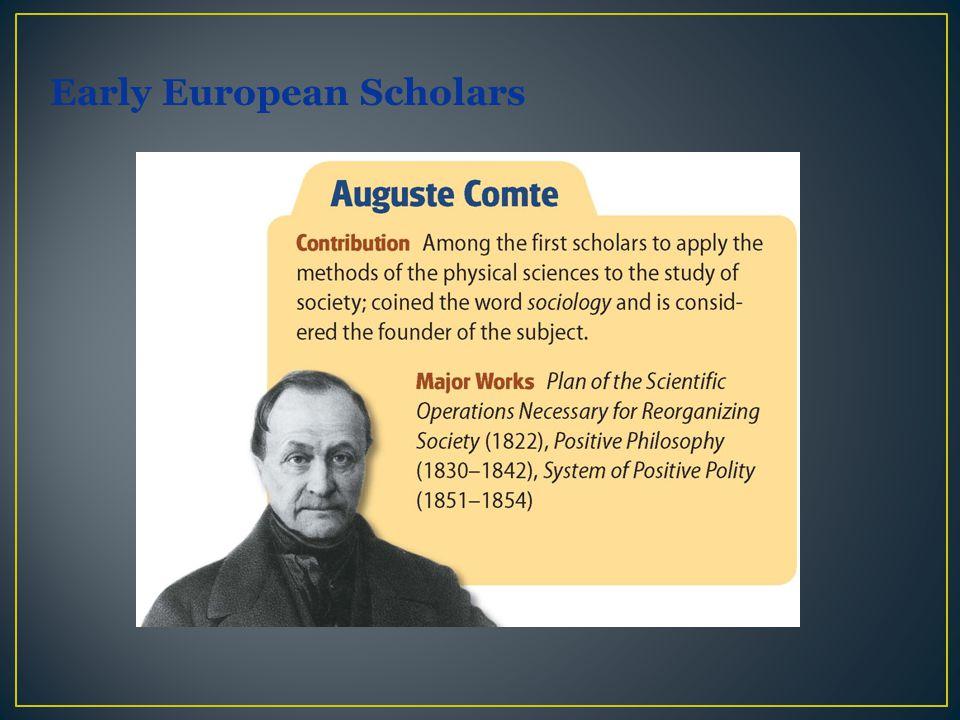 Early European Scholars