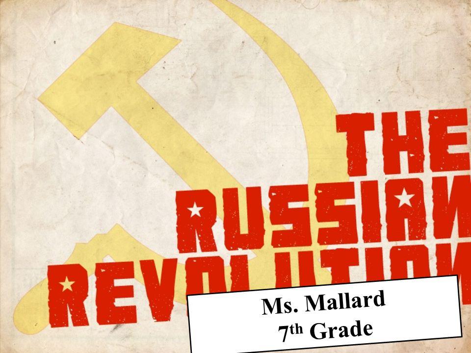 Ms. Mallard 7 th Grade
