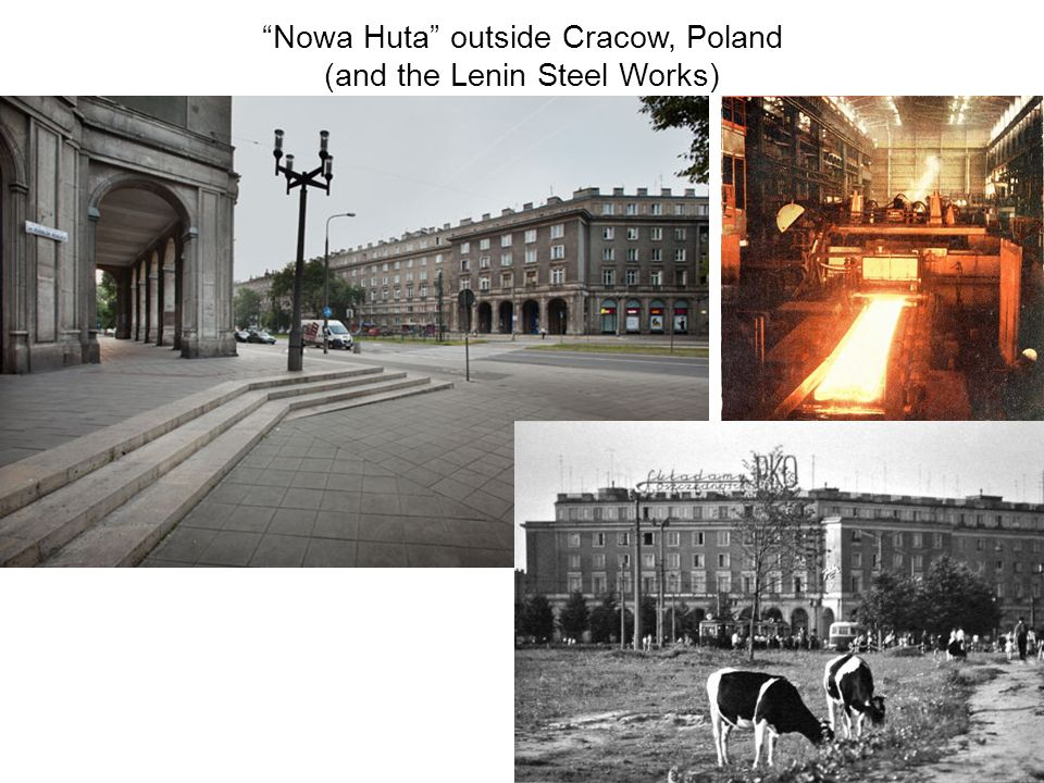 Nowa Huta outside Cracow, Poland (and the Lenin Steel Works)
