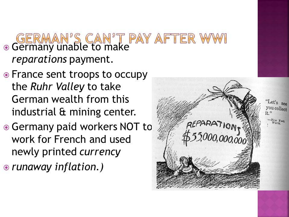  (1 dollar = 4, 200, 000, 000, 000 marks! Money carried in wheelbarrows!)